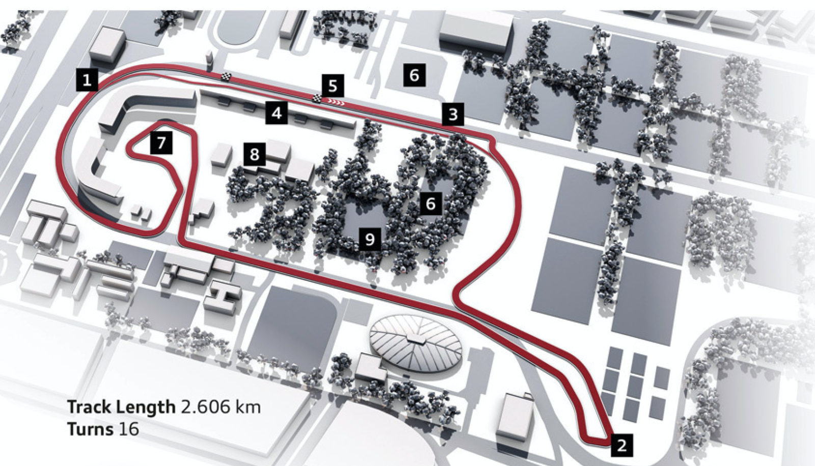 Layout van circuit