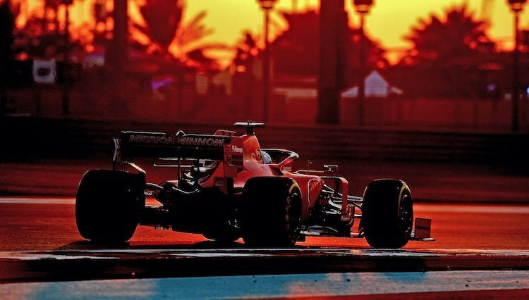 Ferrari op Abu Dhabi