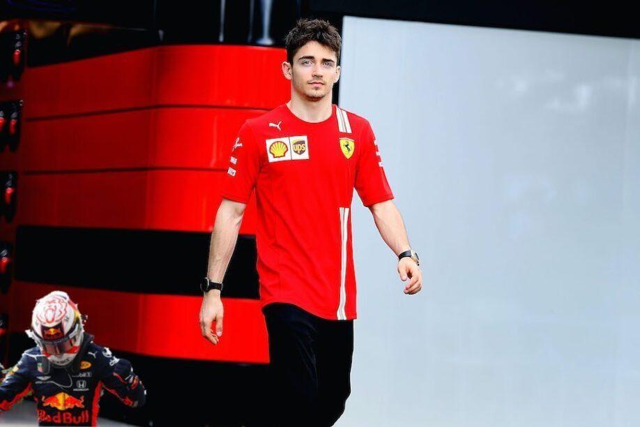Leclerc schaduw Verstappen