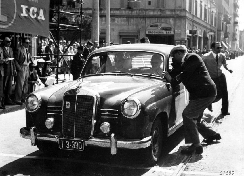 Voorbereidingen voor 1955 Mille Miglia