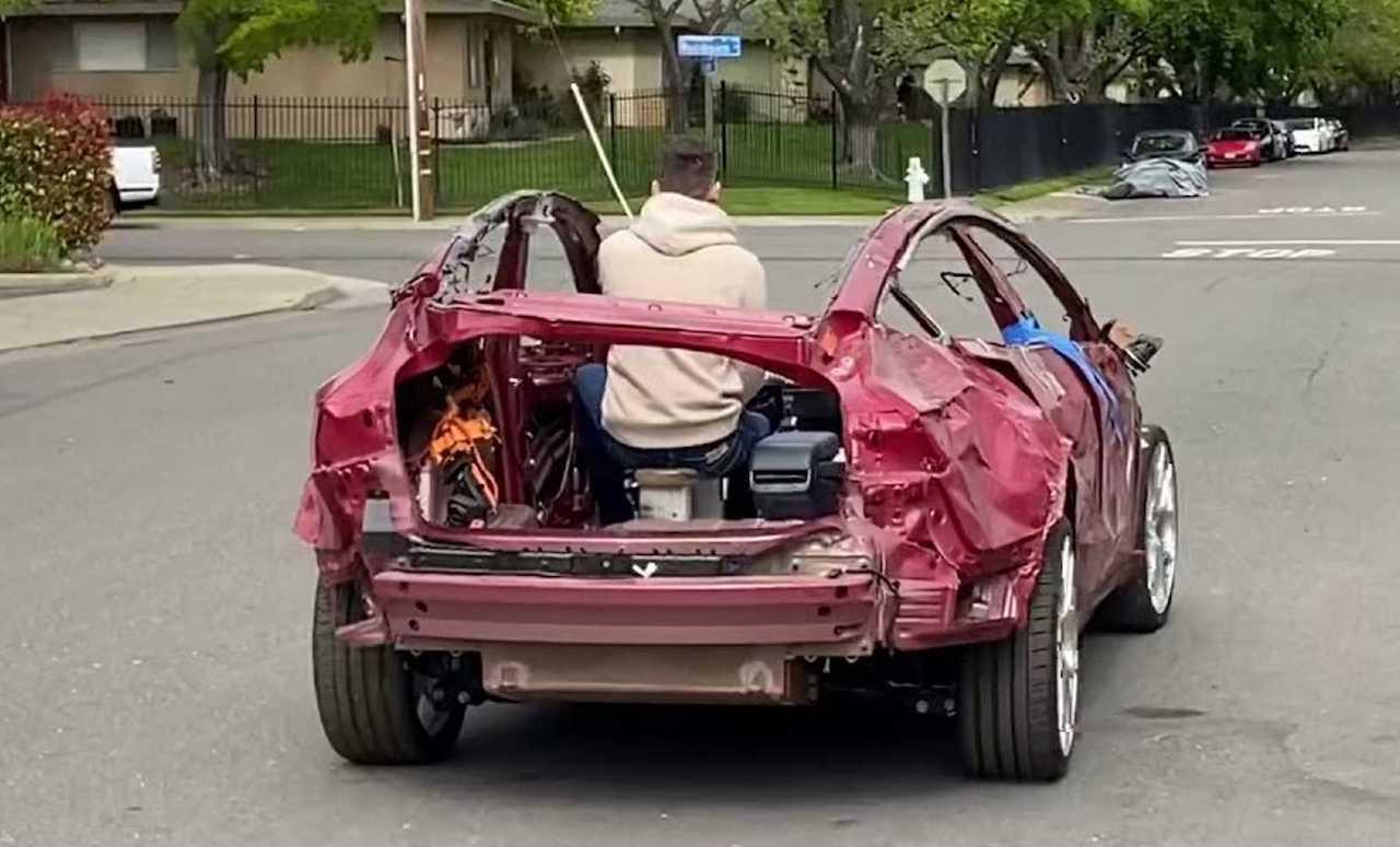 Tesla cabrio 'gewoon' rijdbaar