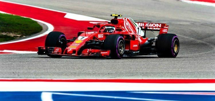 De Ferrari F1-auto die Kimi Räikkönen cadeau kreeg.