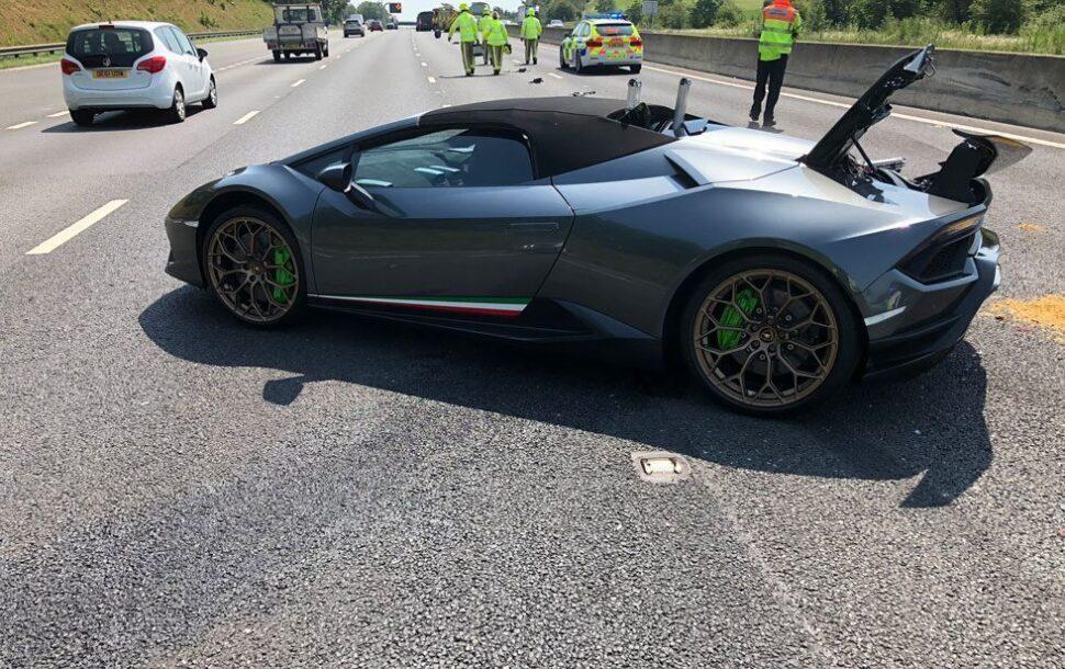 Lamborghini Huracán Performante Spyder crash, 20 minuten na aflevering