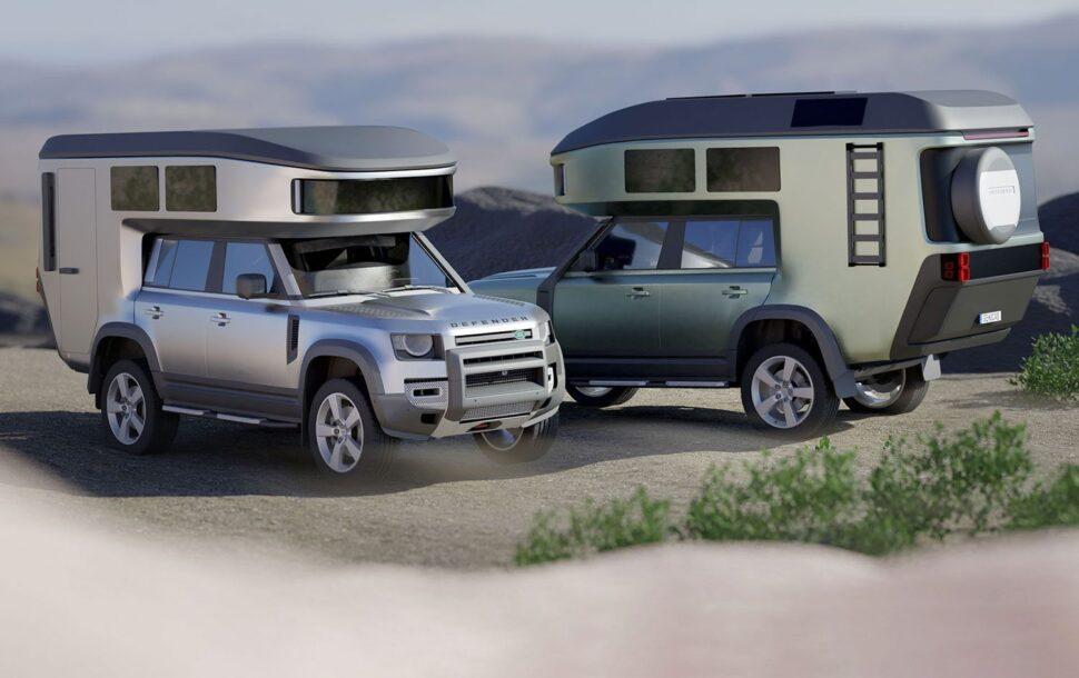 Nieuwe Land Rover Defender camper