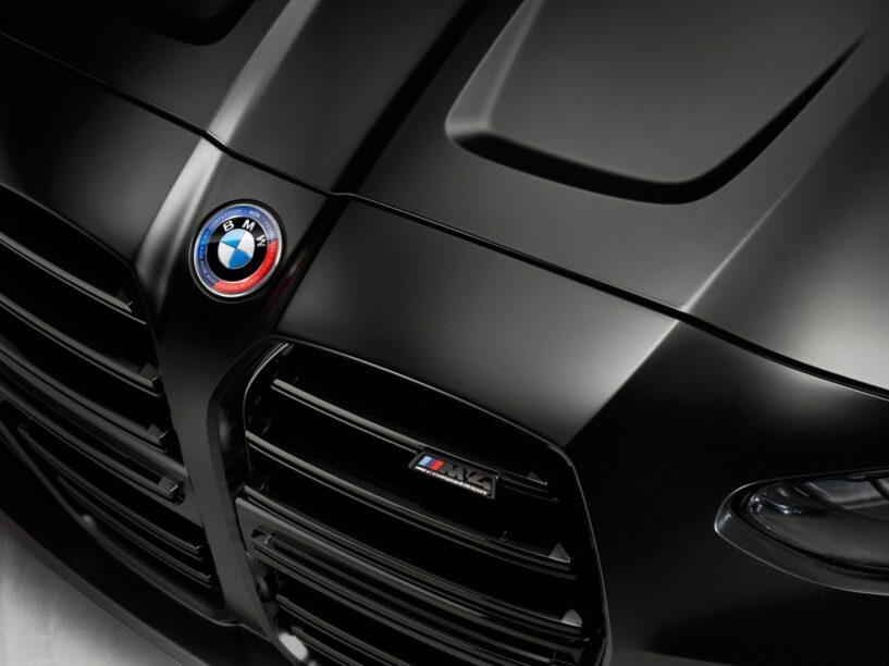 De neus van de BMW M4 Competition x Kith