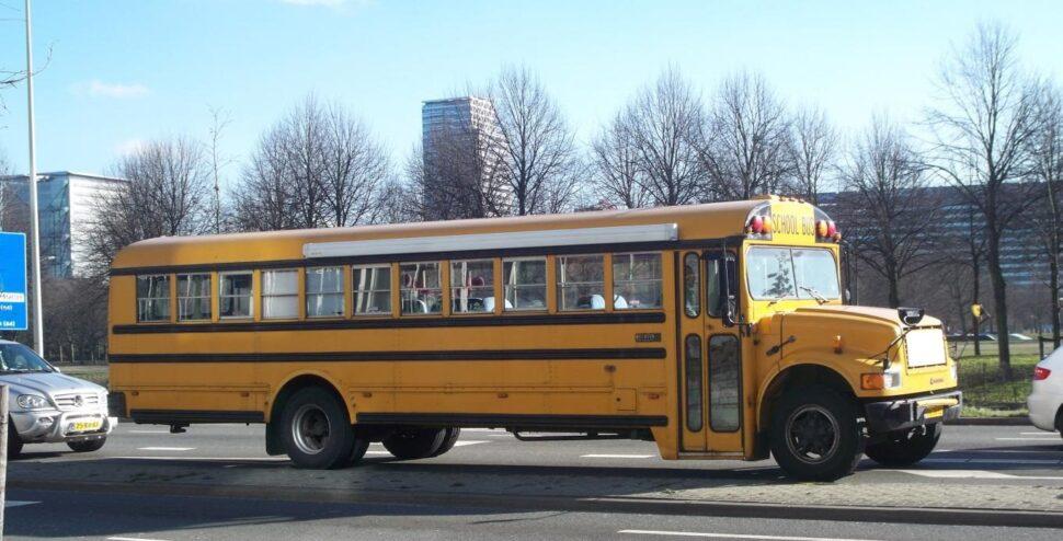 Een Amerikaanse schoolbus