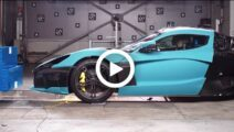 Zo verloopt een Rimac C_Two crashtest