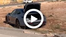 Video - Porsche Taycan Turbo S crash na volle acceleratie