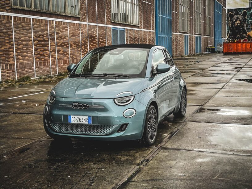 Fiat 500 electric driving test
