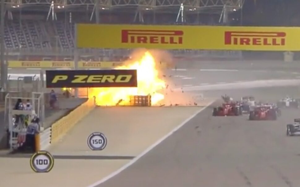 Crash Romain Grosjean