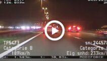 Politie achtervolgt vanuit A35 AMG een Golf GTI (240 km/u+)
