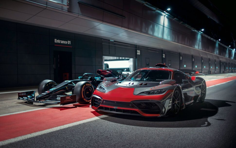 Mercedes-AMG Project One op het circuit