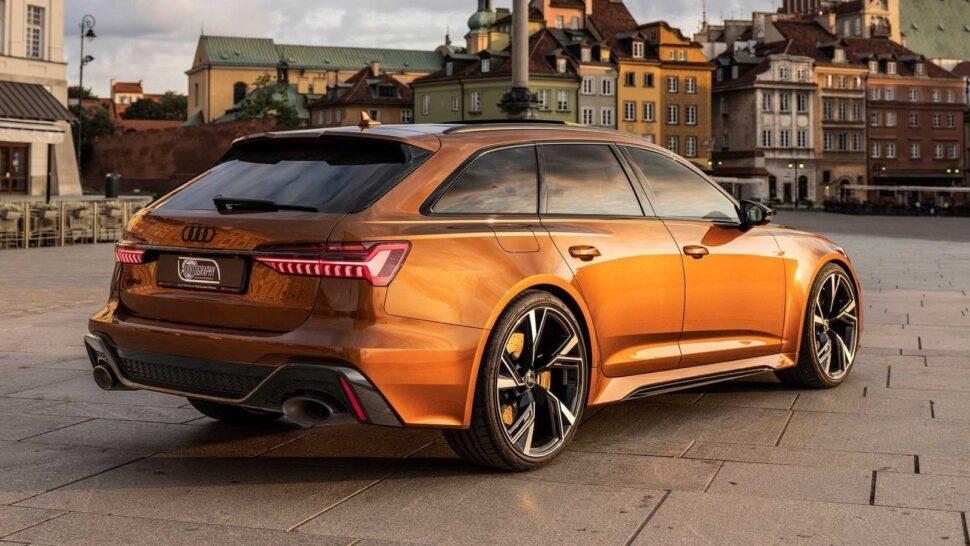 Bruine Audi RS6 Avant