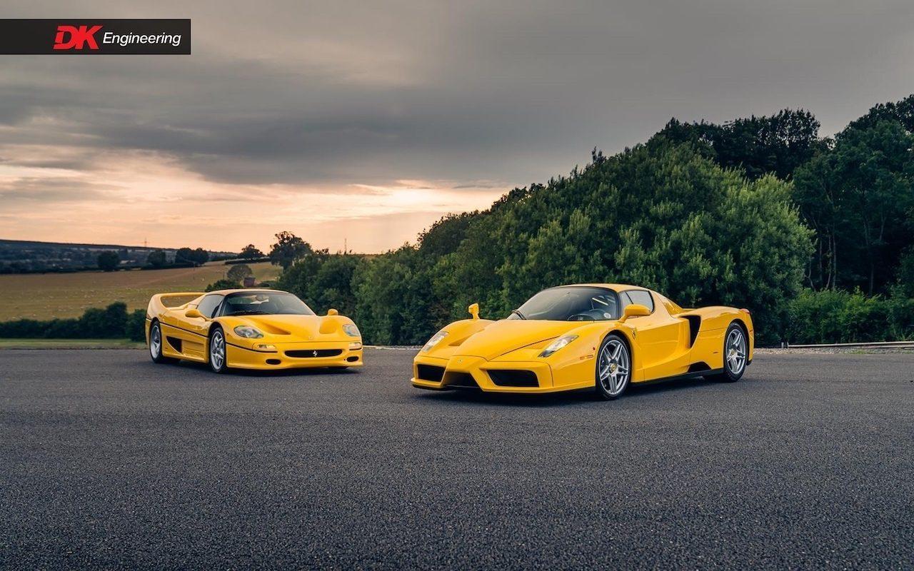 Identieke Ferrari F50 en Enzo als duo te koop