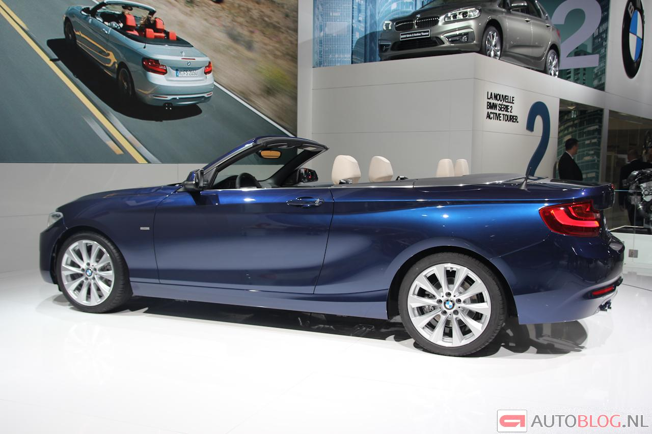 bmw 2 serie cabrio kap open en gas geven. Black Bedroom Furniture Sets. Home Design Ideas