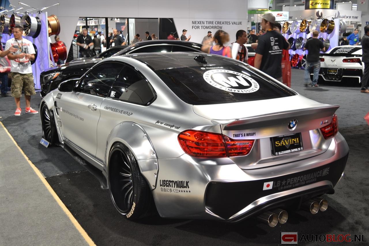 Beurzen Sema 2014 Bmw M4 Lb Performance Bmw M4 Wrap 07