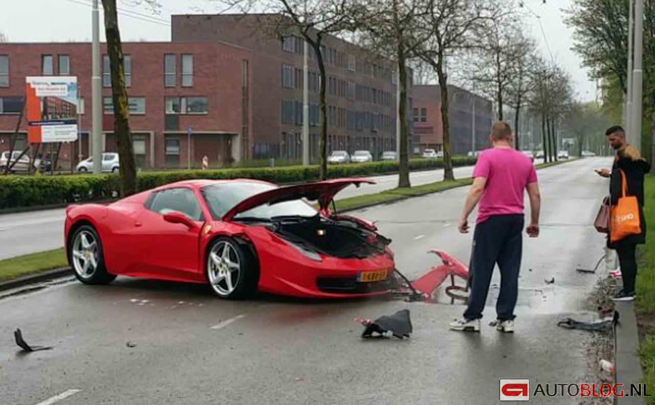 Ferrari 458 Crash 006 on fisker spider
