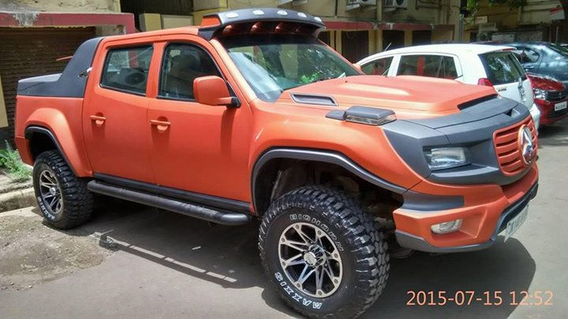 Mercedes G-Klasse pickup concept gespot in India - Autoblog.nl