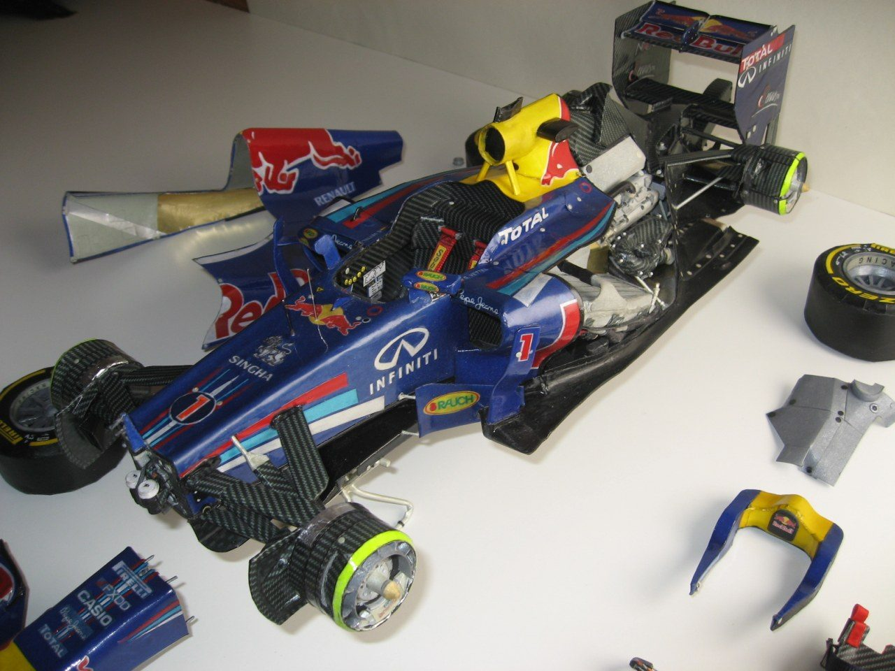 f1 paper Diy f1 car - 3d papercraft by paper amaze available for $1500 at designbundlesnet.