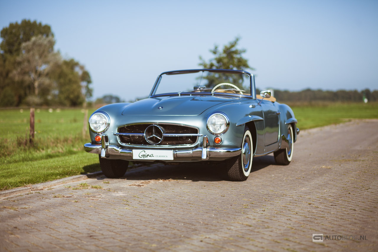 mercedes 190sl 1959 classic rijtest en video. Black Bedroom Furniture Sets. Home Design Ideas