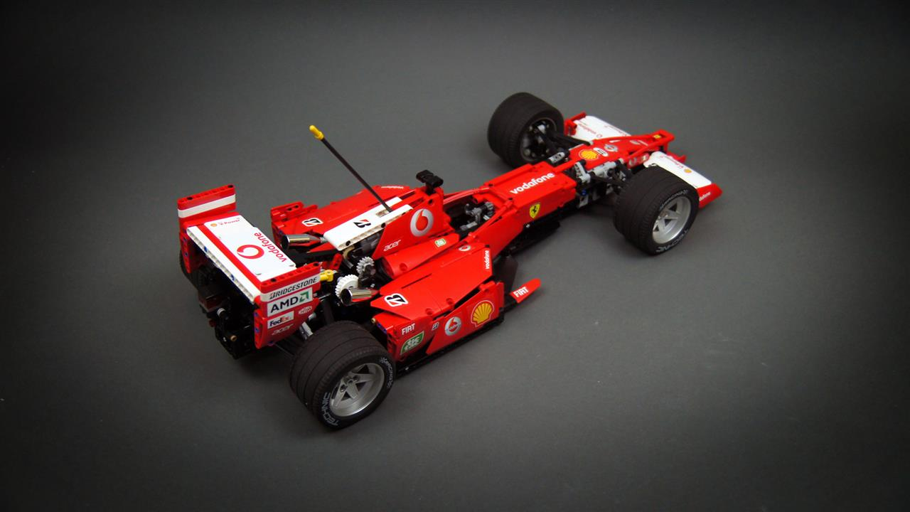 video je gelooft nooit wat deze lego ferrari f1 allemaal. Black Bedroom Furniture Sets. Home Design Ideas