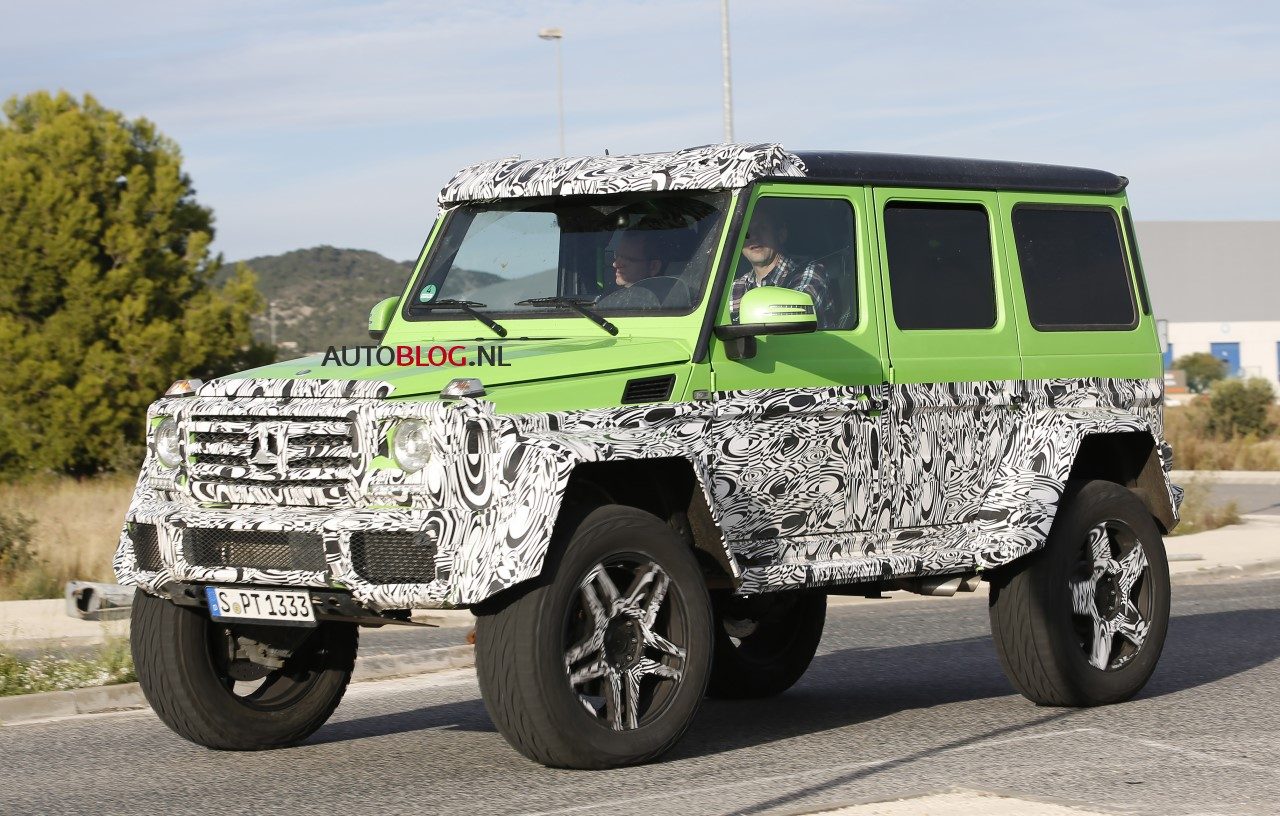 spyshots mercedes g63 amg 4x4 hulk. Black Bedroom Furniture Sets. Home Design Ideas