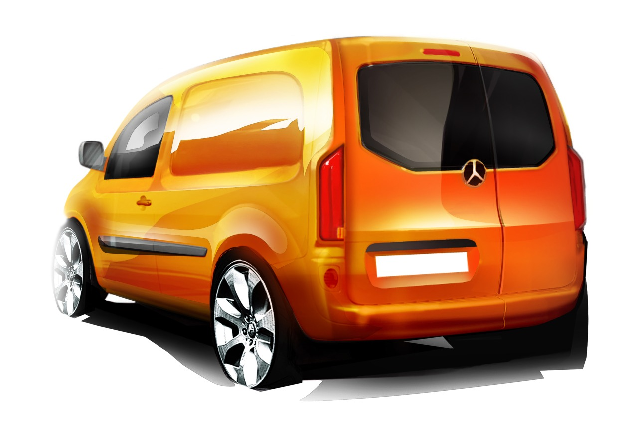 mercedes citan kangoo met een mercedes snuit. Black Bedroom Furniture Sets. Home Design Ideas